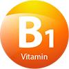 วิตามิน บี1 ช่วยให้ร่างกายได้พลังงานจากคาร์โบไฮเดรต มีส่วนช่วยในการทำงานของระบบประสาทและกล้ามเนื้อ