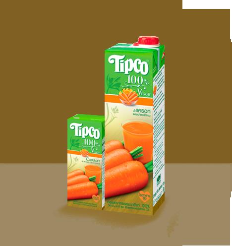 น้ำแครอทผสมน้ำผลไม้ 100%