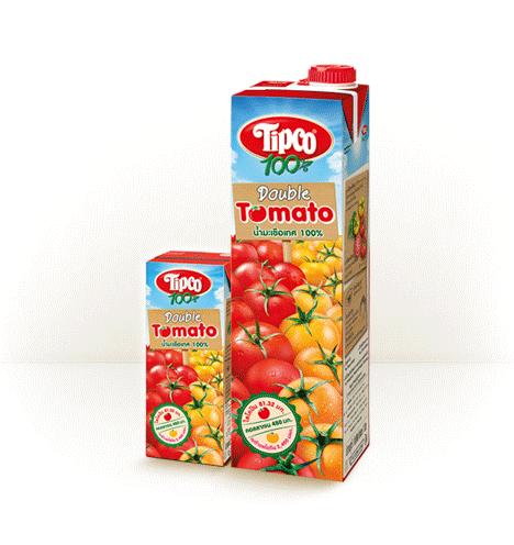 ทิปโก้ ดับเบิ้ล โทเมโท น้ำมะเขือเทศ 100%
