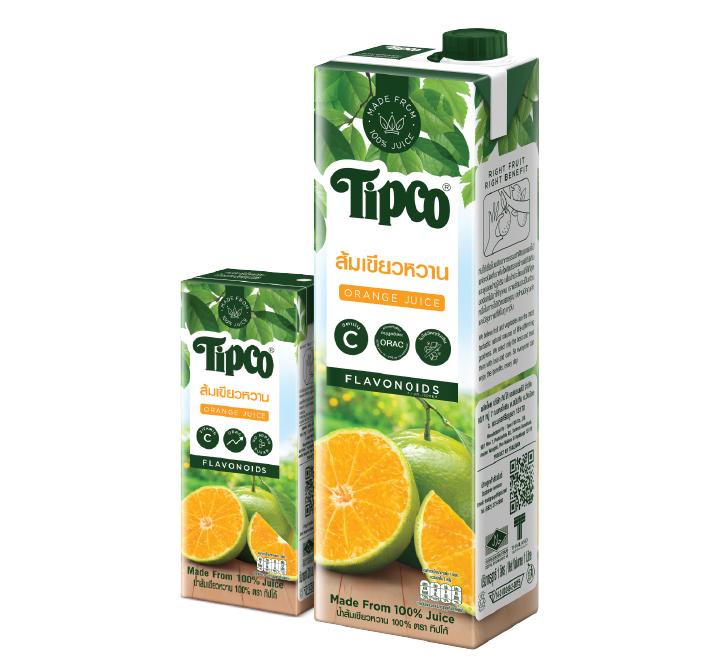 น้ำส้มเขียวหวาน 100%