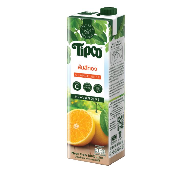 น้ำส้มสีทอง 100%